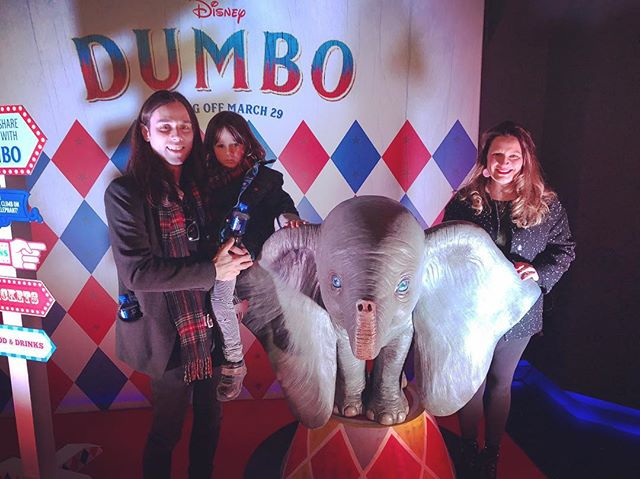 Great to see #Dumbo this morning! Well worth seeing when it comes out 🐘