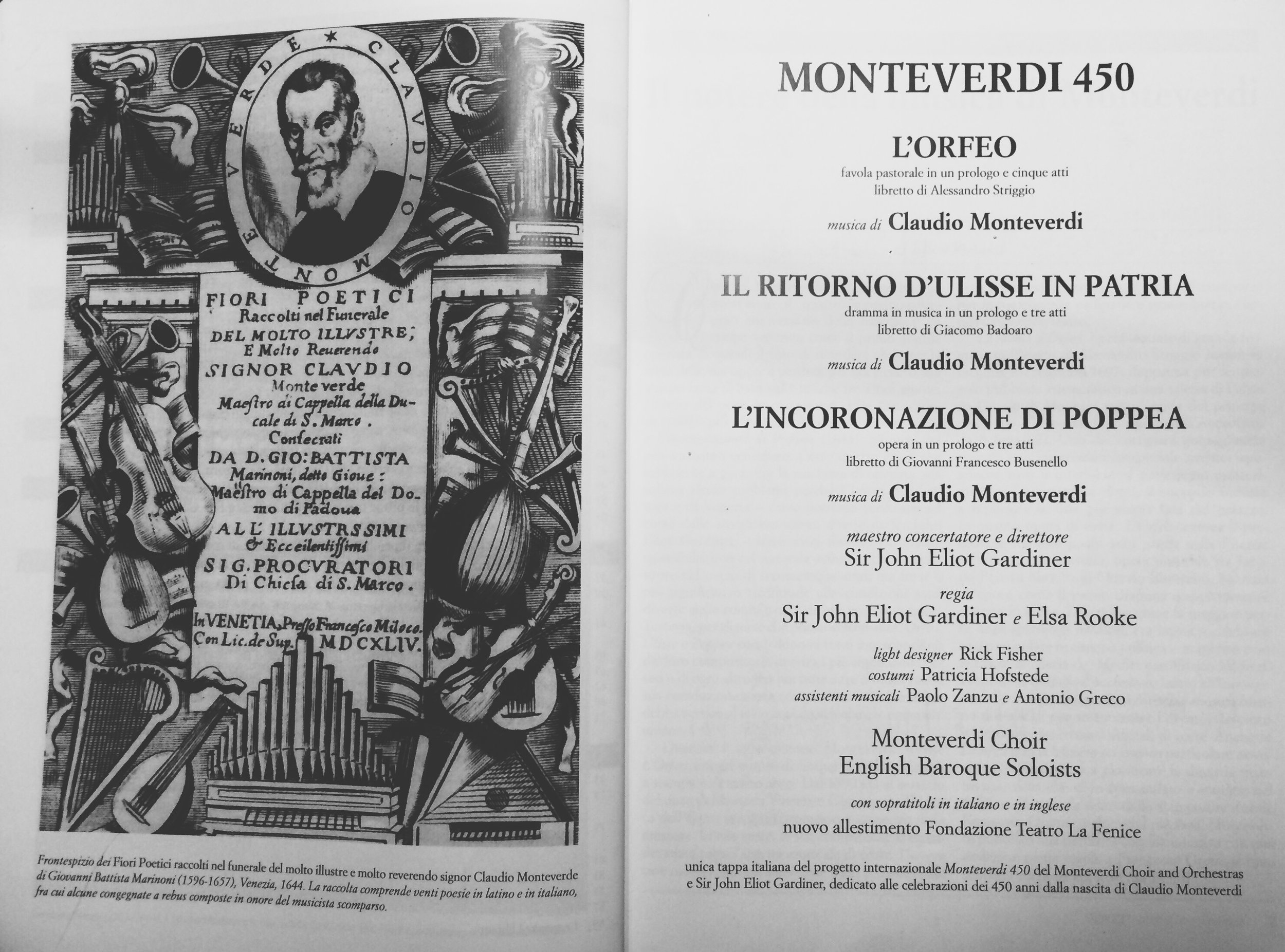 Monteverdi Choir and Orchestras - Sir John Eliot Gardiner - Costumi ; Patricia Hofstede