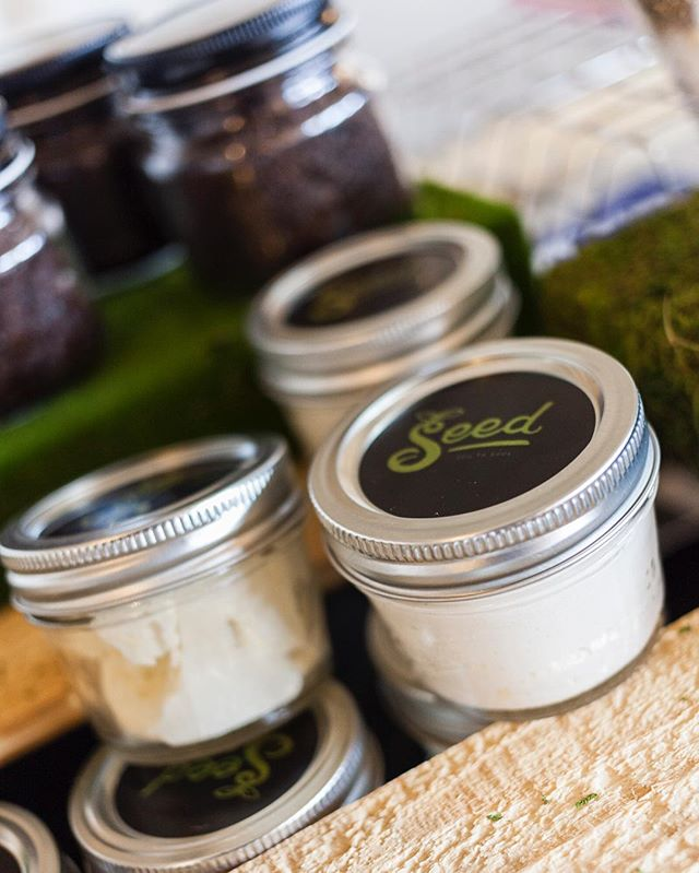 4 oz. jars will be in attendance for our vending event this weekend! #seedforthebody #bodybutter #shea #cocoabutter