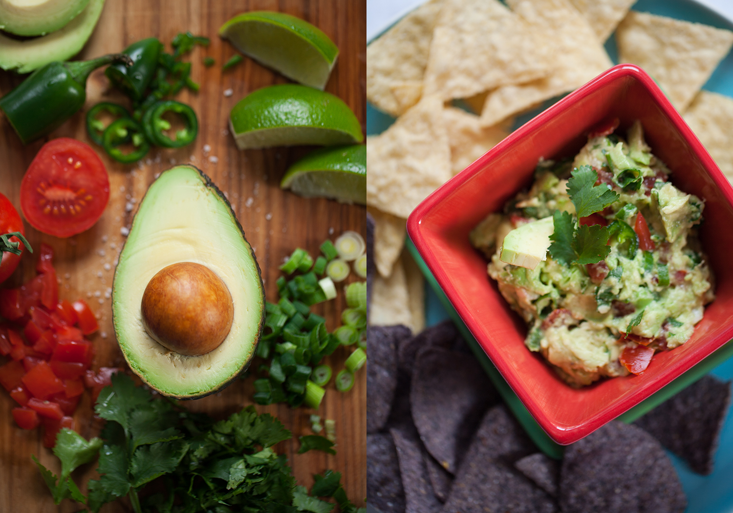 Making fresh guacamole, Kitchen Table series by Dena Robles
