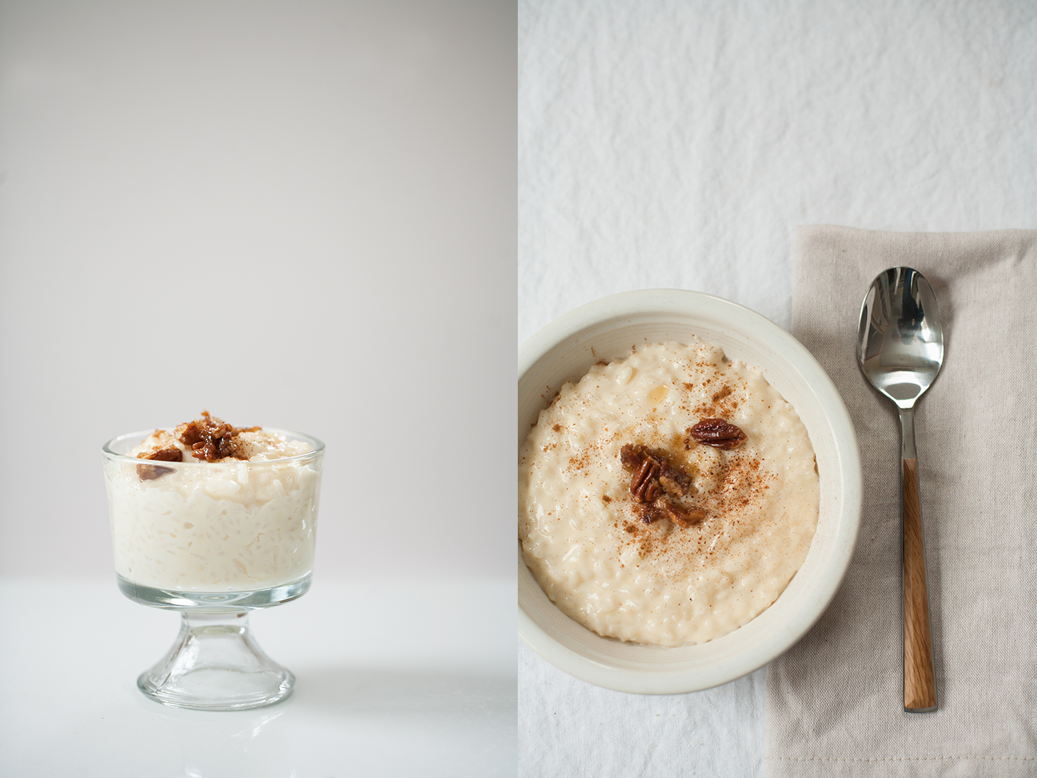 sweet rice pudding, perfect as dessert or breakfast