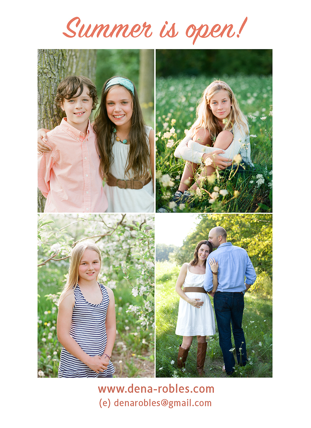 now scheduling summer portrait session in michigan