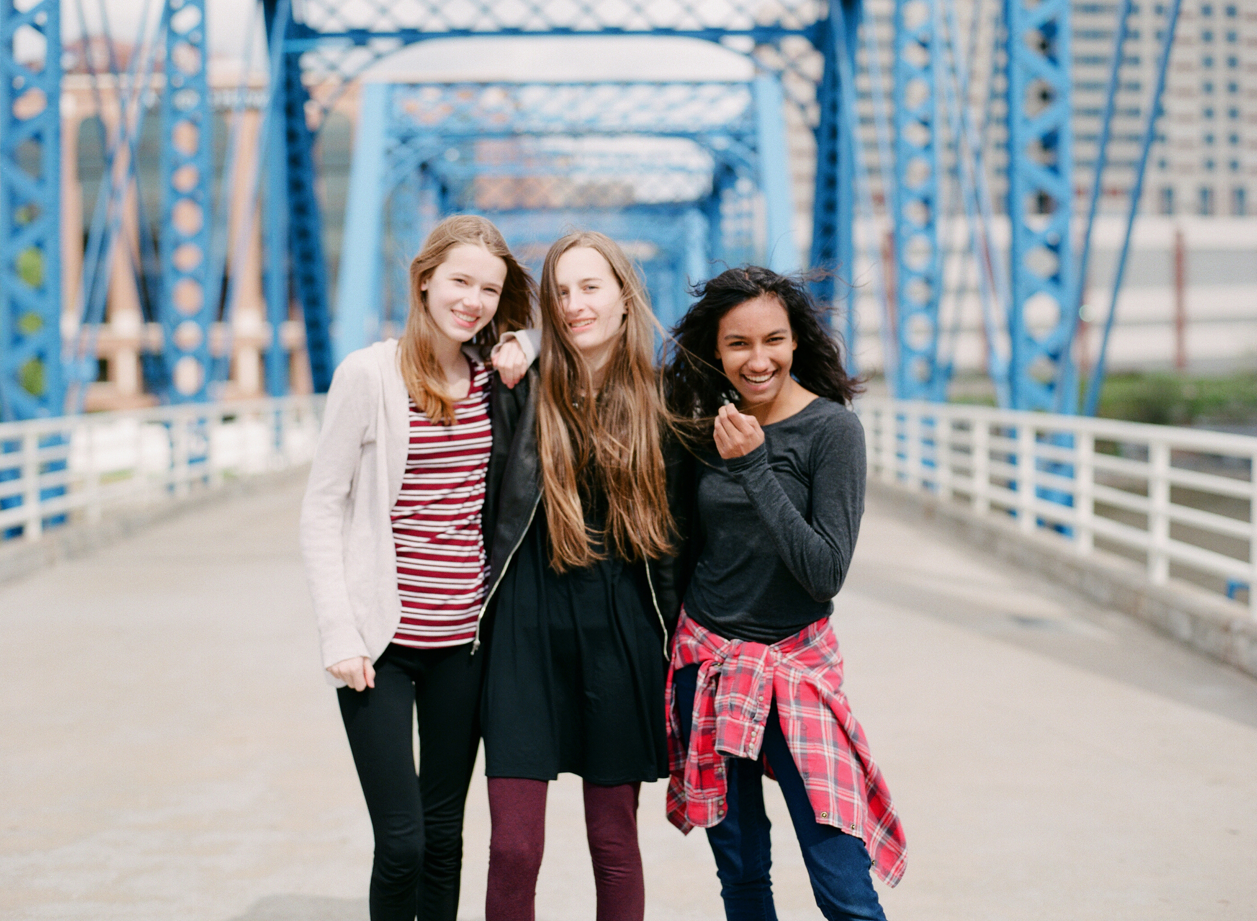 Grand Rapids high school portraits at the Blue Bridge