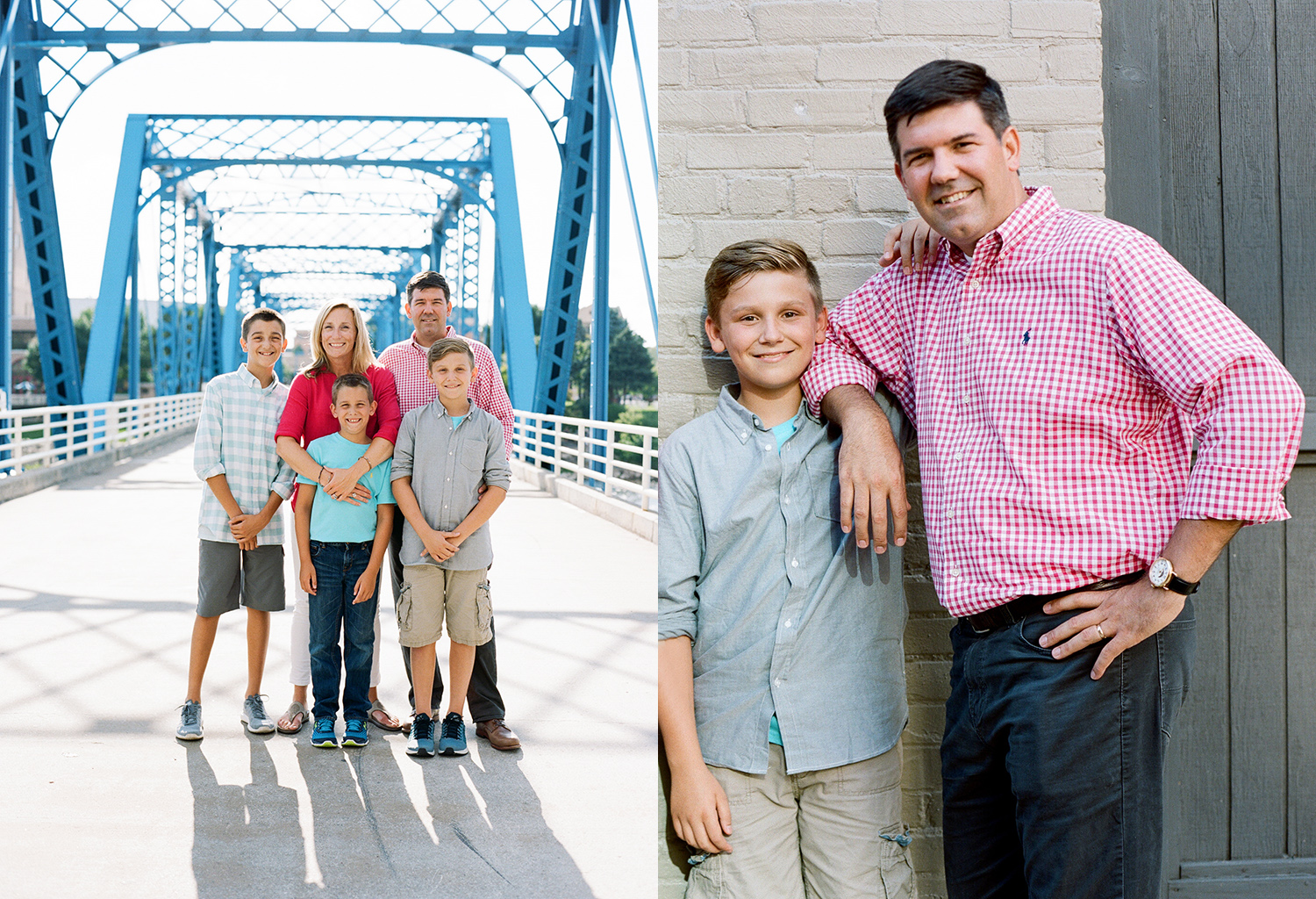 Family photos at The Blue Bridge Grand Rapids, Michigan