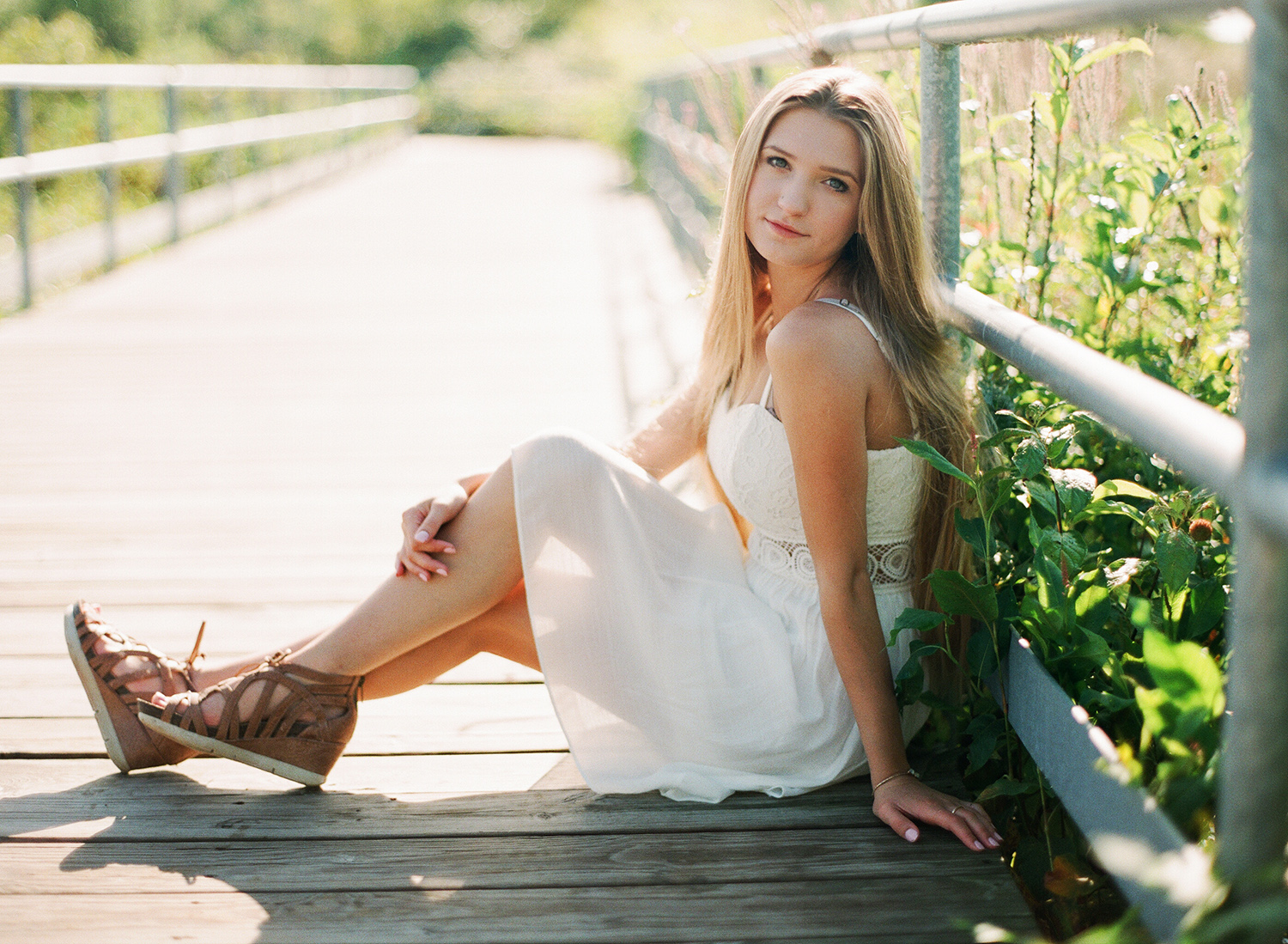 High school senior portraits in nature in michigan