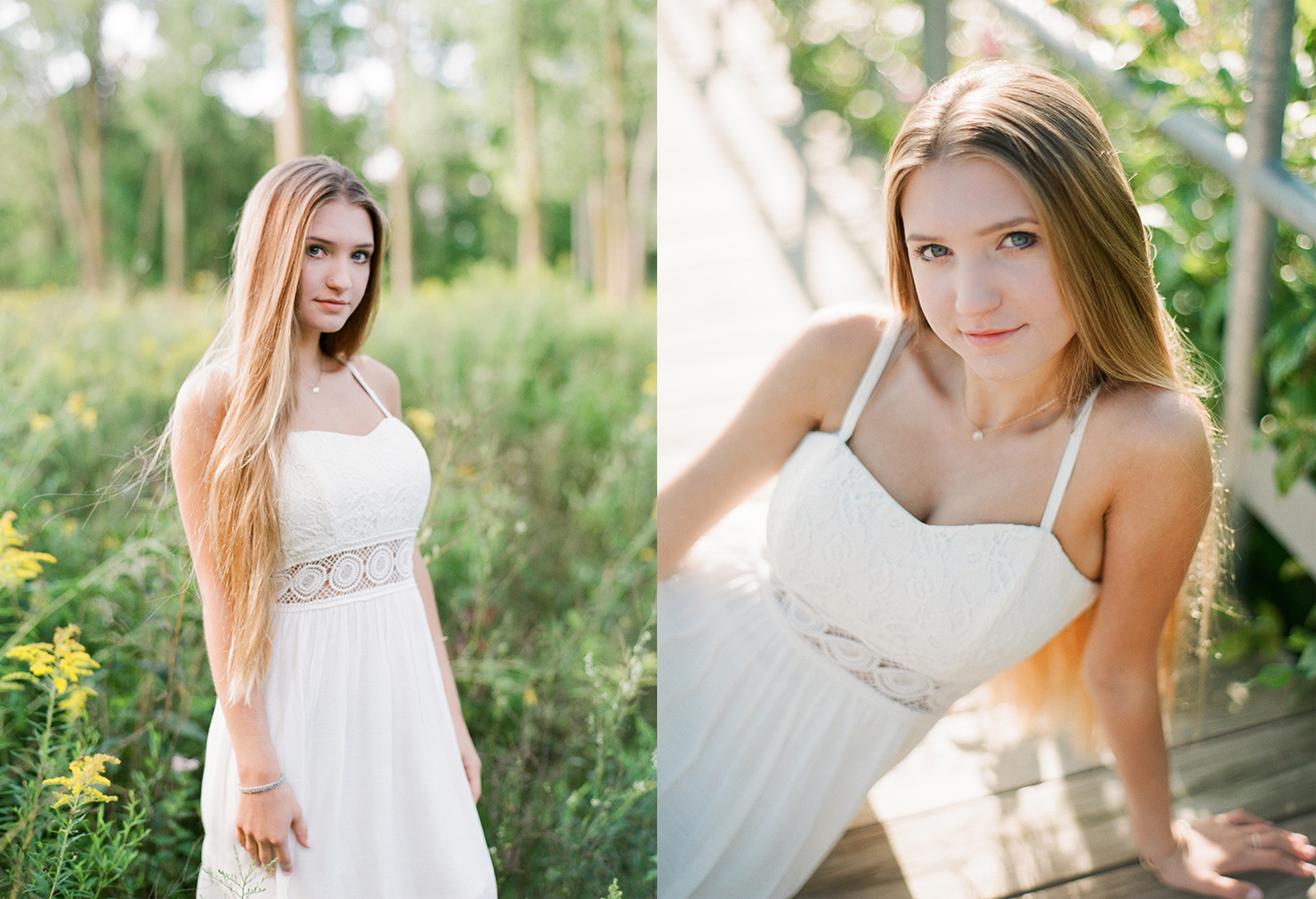 Film portraits of high school seniors in east grand rapids michigan