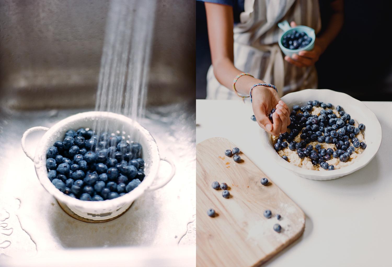 blueberry cobbler photography