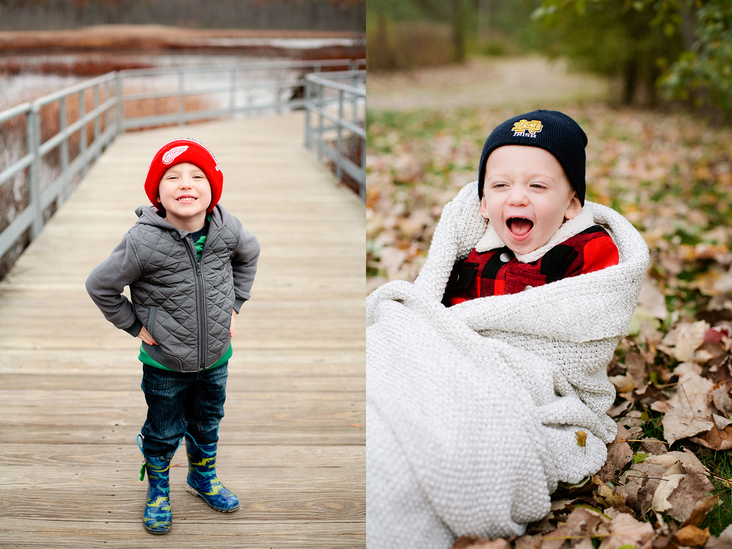 winter photo sessions for families