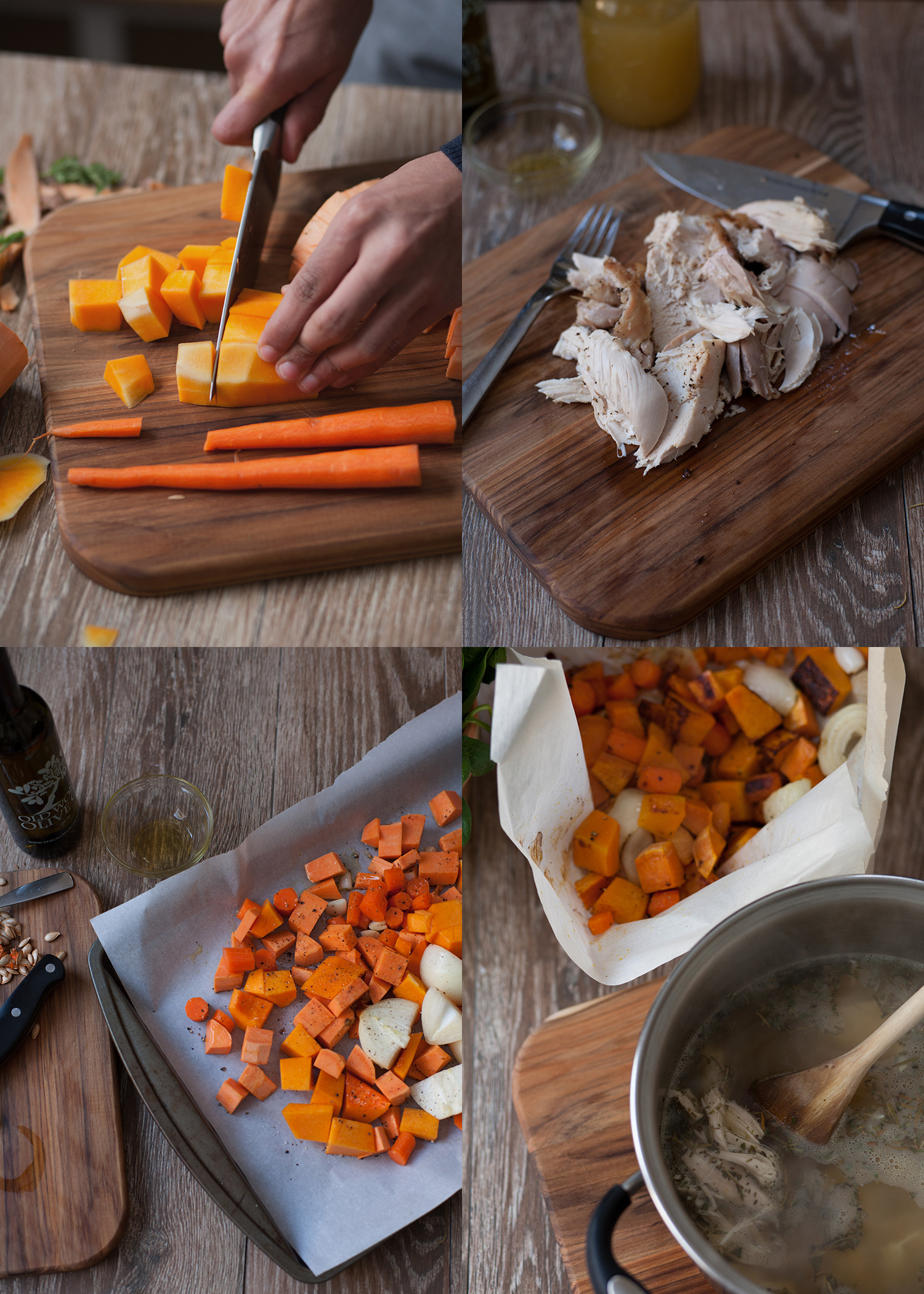 Food styling and photography, roasted vegetables