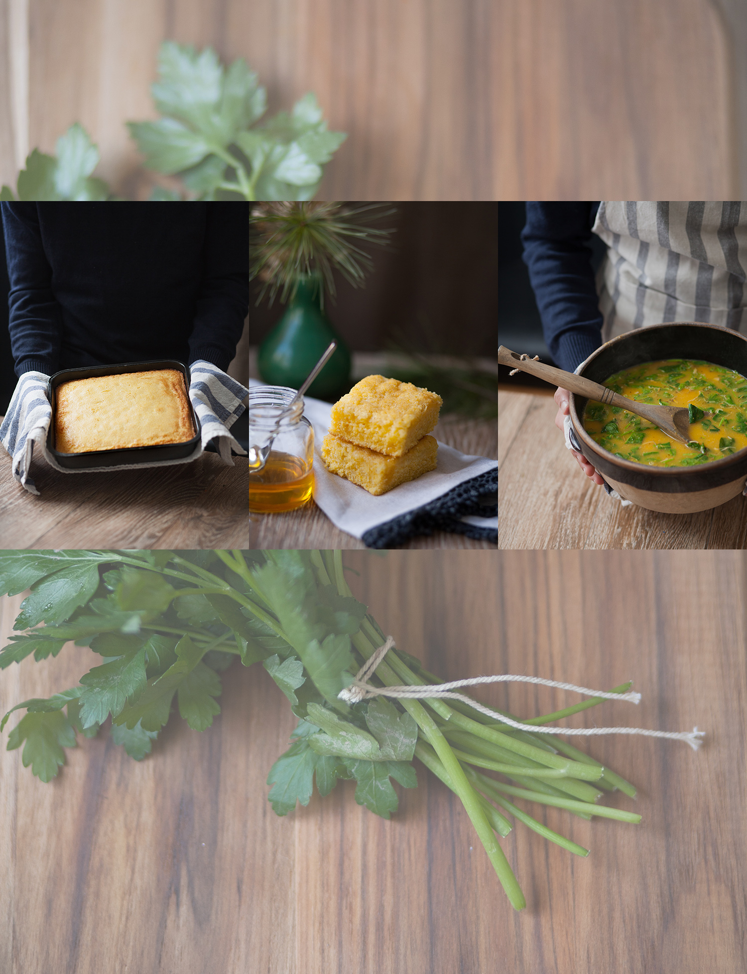 Grandmother's Cornbread and Chicken Vegetable Soup