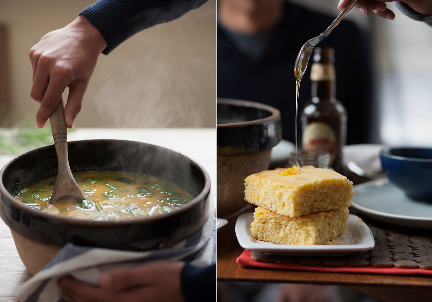 Beautiful action and movement shots in food photography