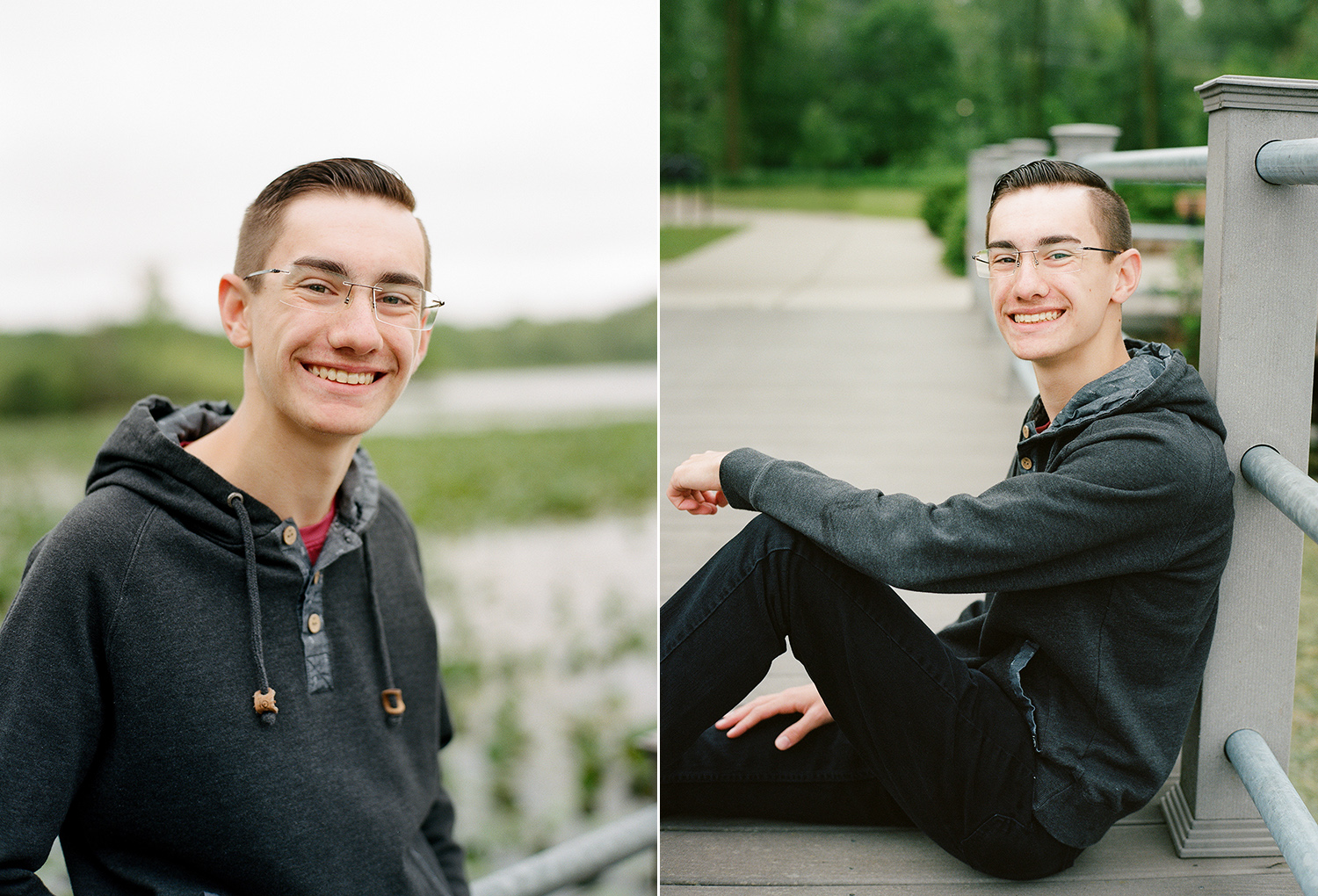 Outdoor portrait sessions for high school seniors