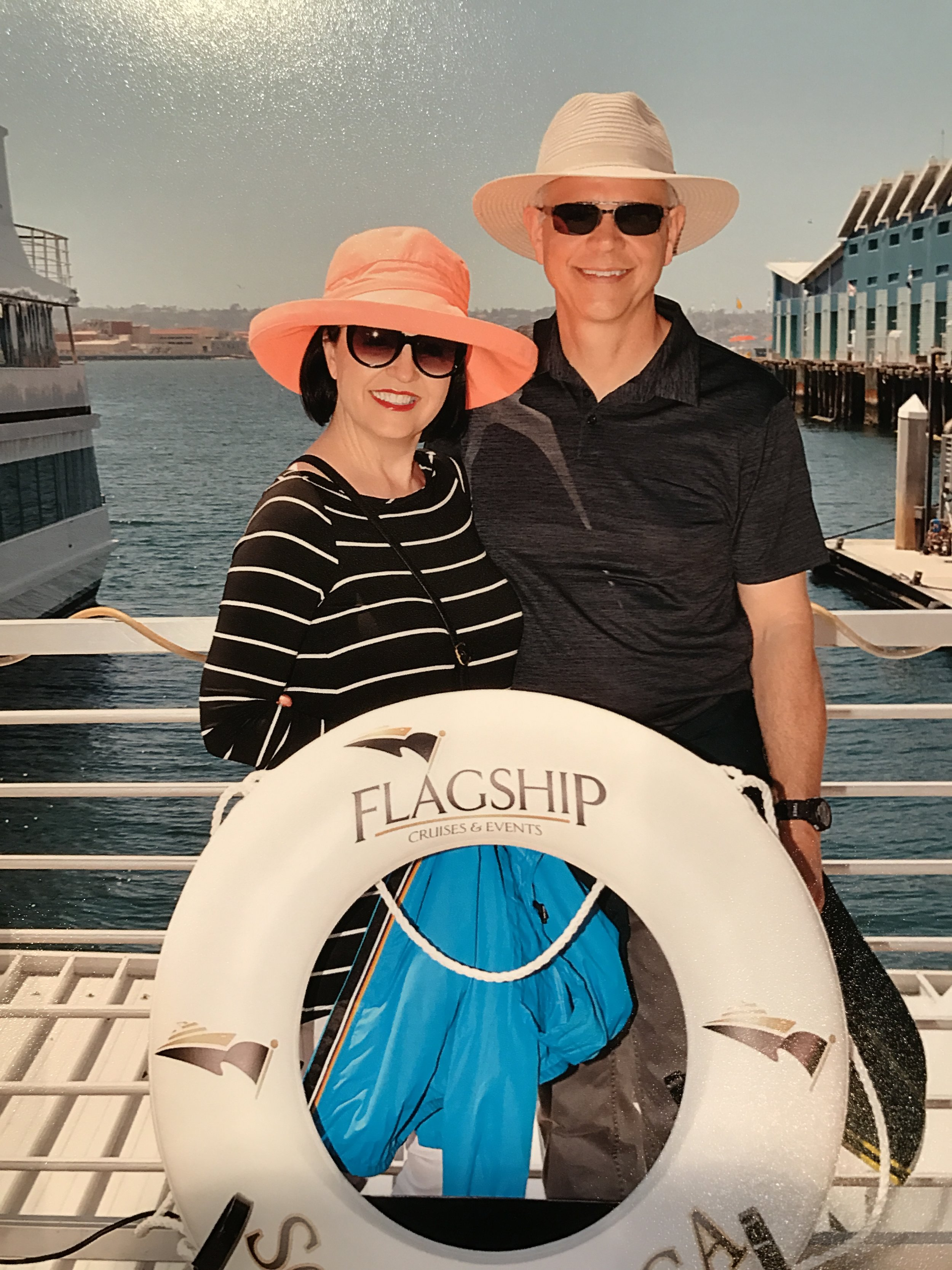 The Professor and MaryAnn boarding for a 3 hr tour ... I kept a firm grip on this life preserver.