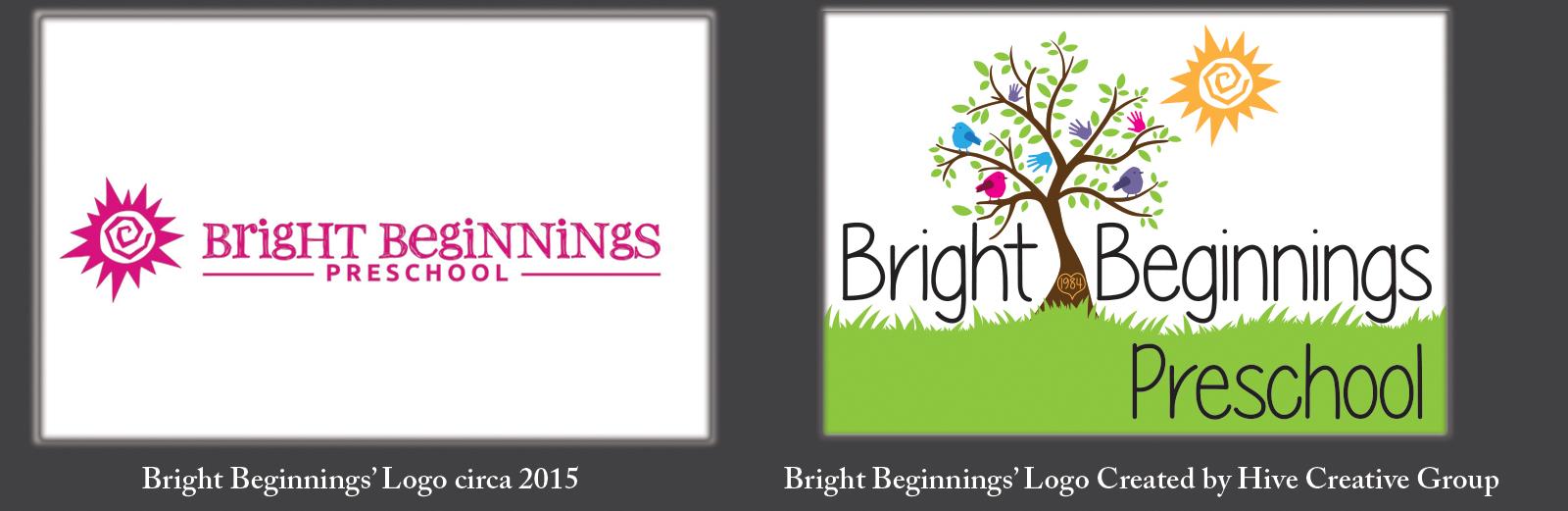 Bright Beginnings Preschool Virginia Logo Redesign