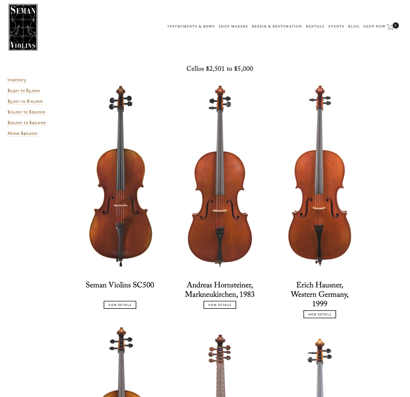 Hive Creative Group | Seman Violins Website Design Shop.jpg
