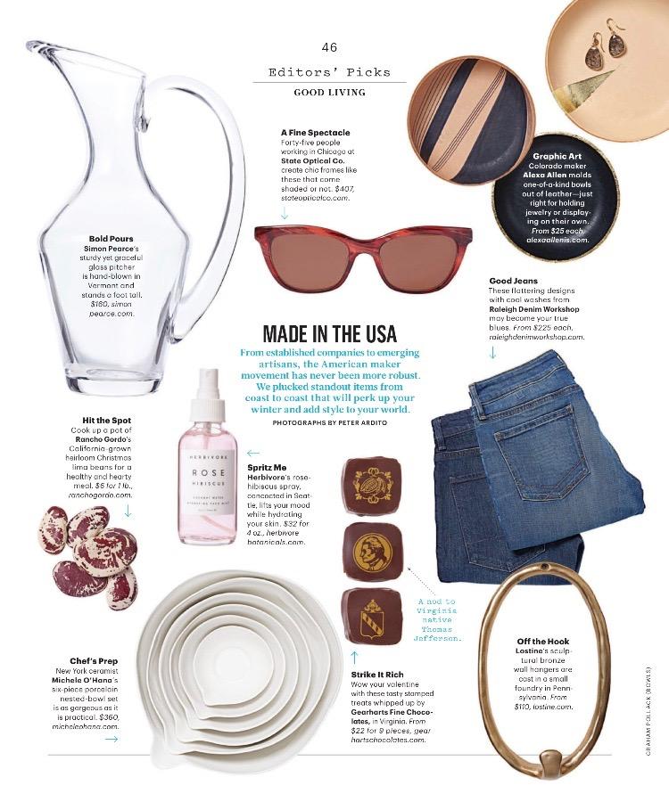 Gearharts Chocolates in Martha Stewart Living magazine