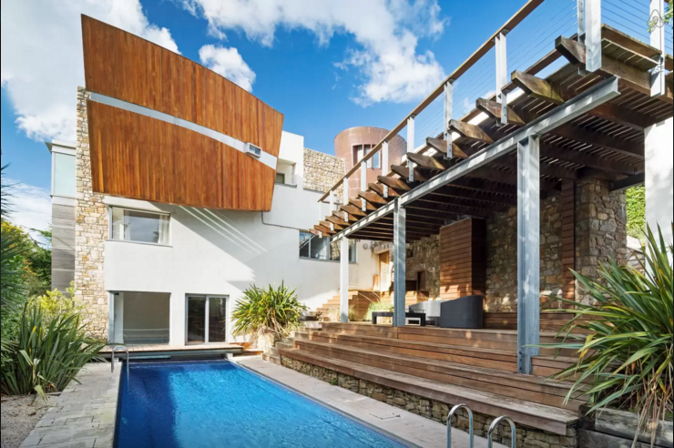 The outside pool which leads directly to indoor lagoon.