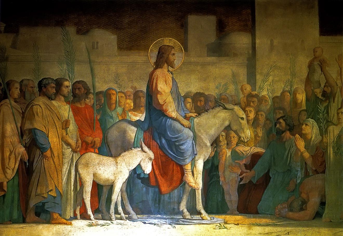Entry into Jerusalem , Hippolyte Flandrin, 1842