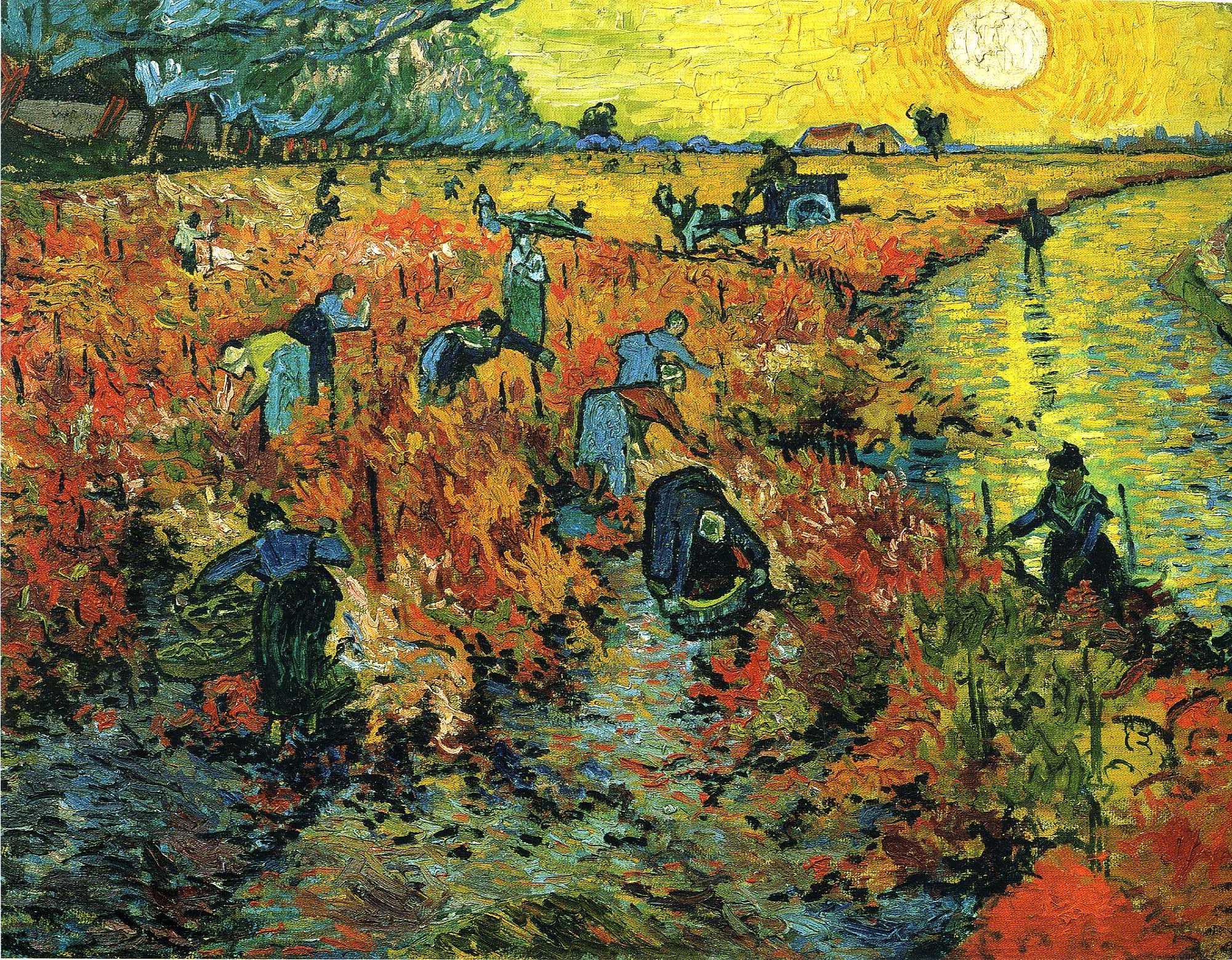 The Red Vineyard at Arles , Vincent Van Gogh