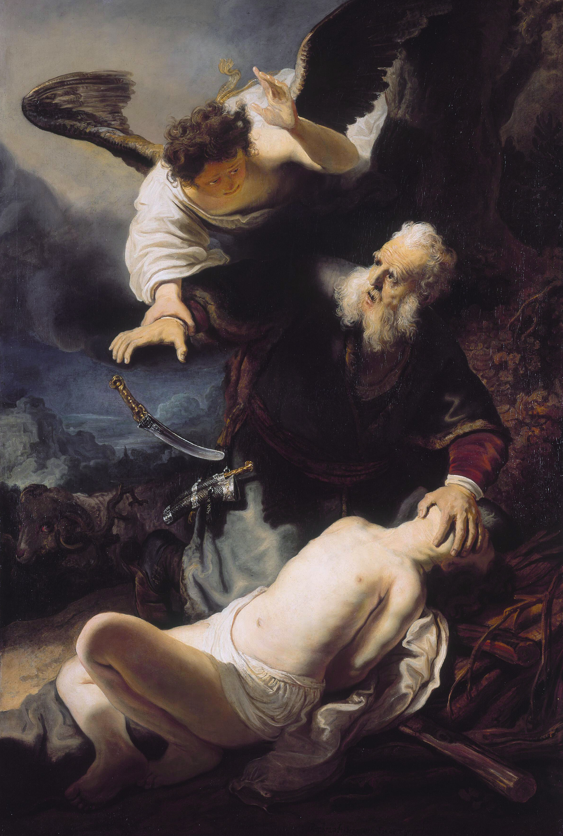 The Sacrifice of Isaac , by Rembrandt, 1635