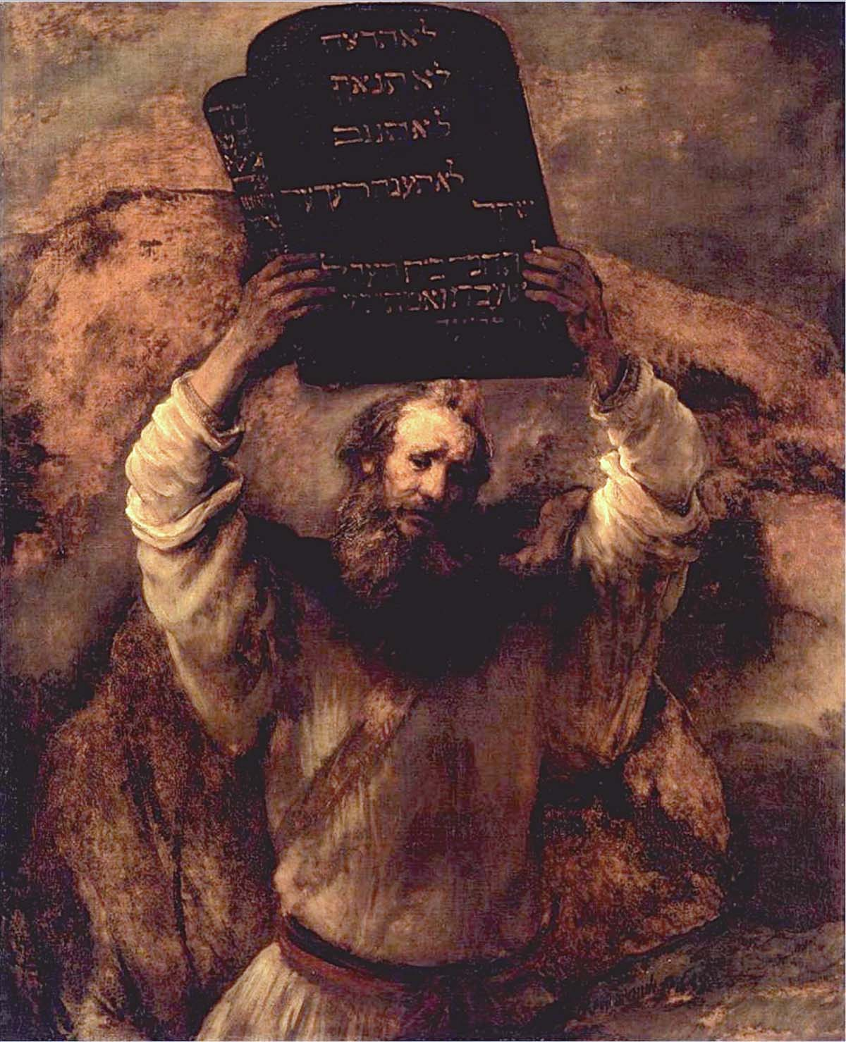 """Moses and the Law,"" Rembrandt"
