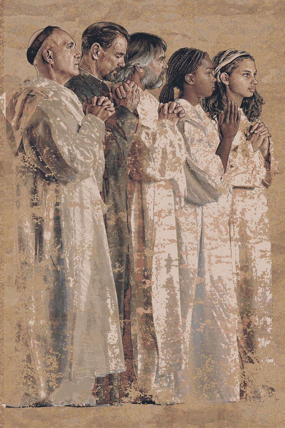 Communion of the Saints , John Dava, Tapestry, Los Angeles Cathedral