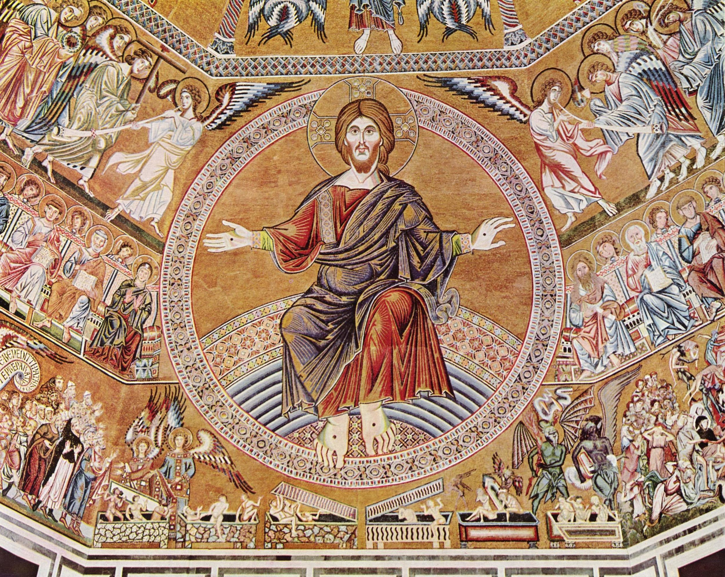 Christ in Majesty, Florentine mosaic, 1300