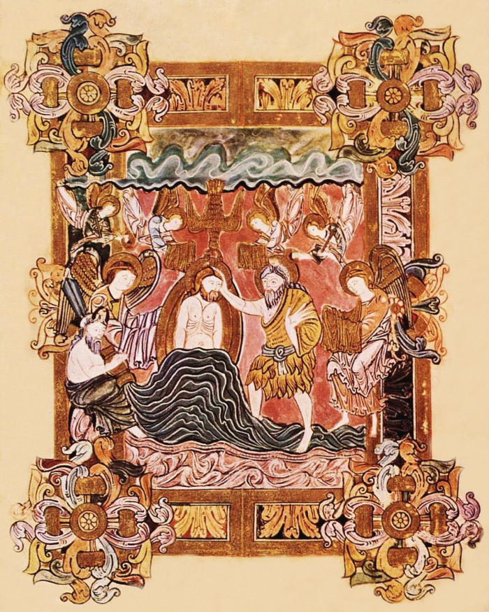 The Baptism of Our Lord Christ,  Benedictional of St. Aethelwold