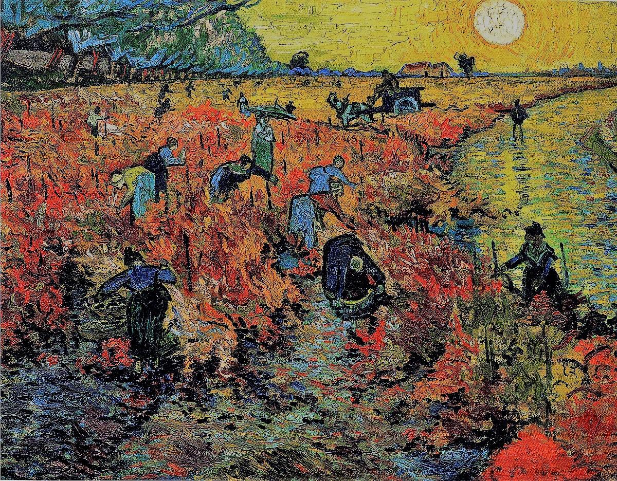 Red Vineyards , by Vincent Van Gogh