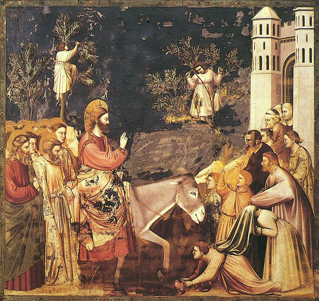 Entry into Jerusalem , by Giotto