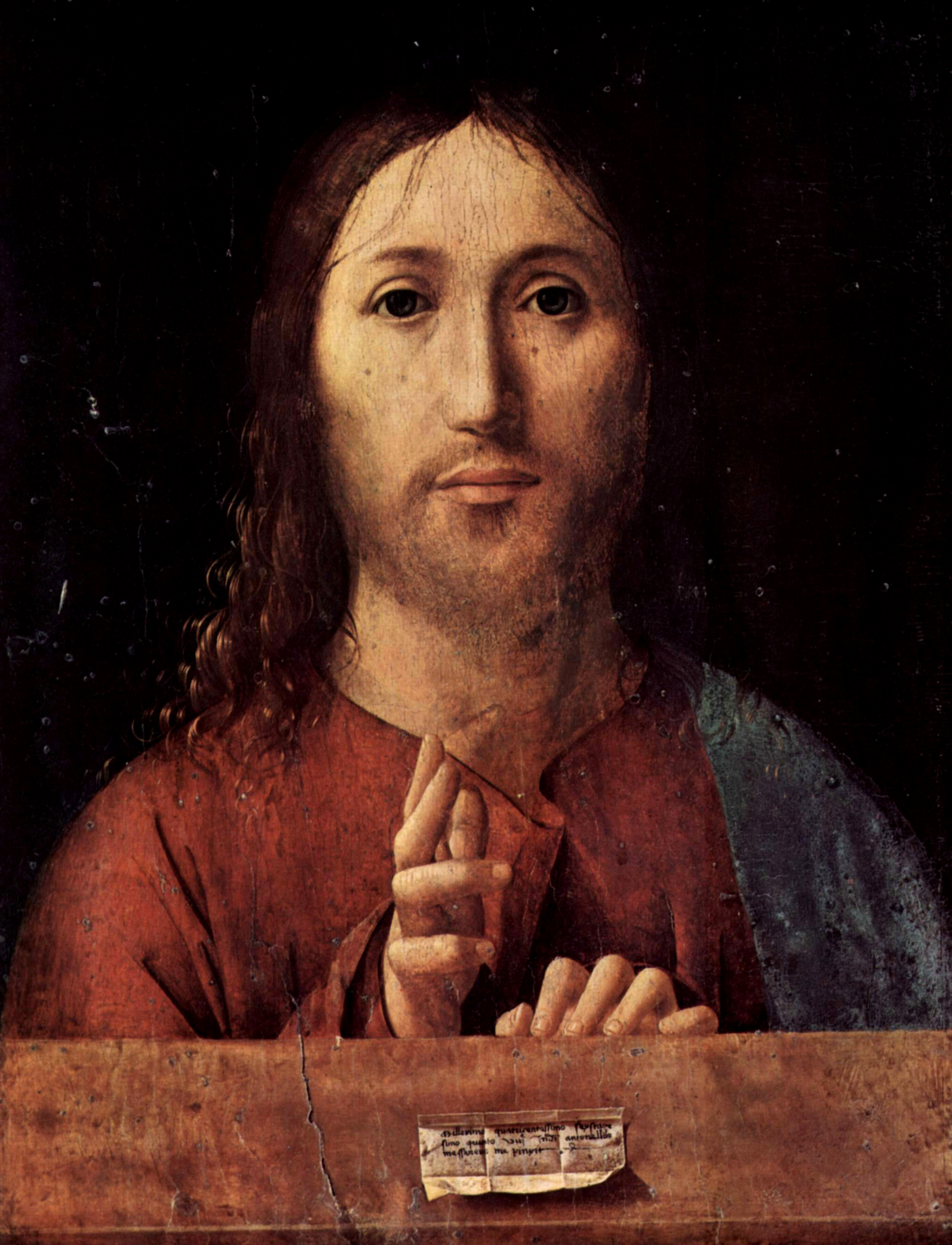 Antonello de Messina (1430),  Salvator Mundi (Savior of the World)