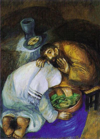 Jesus Washing Feet, Sieger Koder.