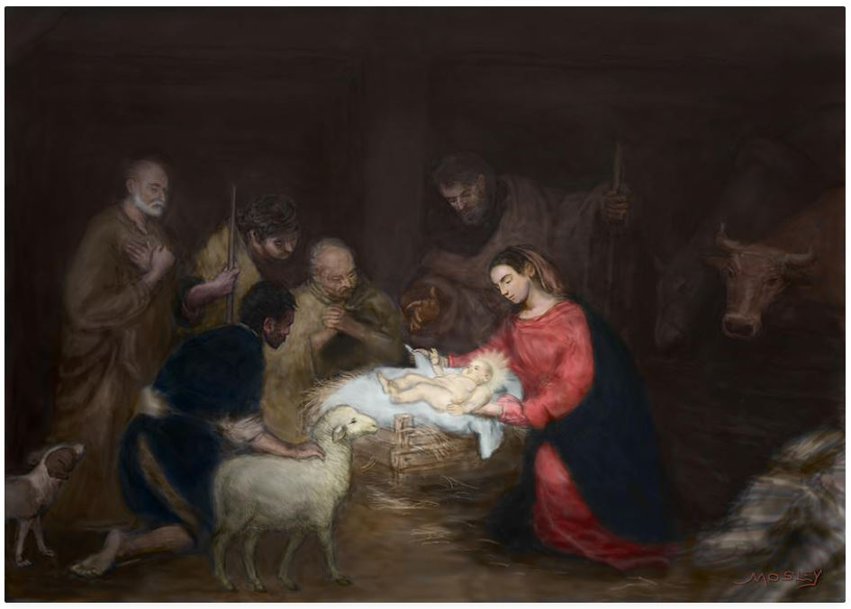 Nativity  ,by Walter Lynn Mosely.