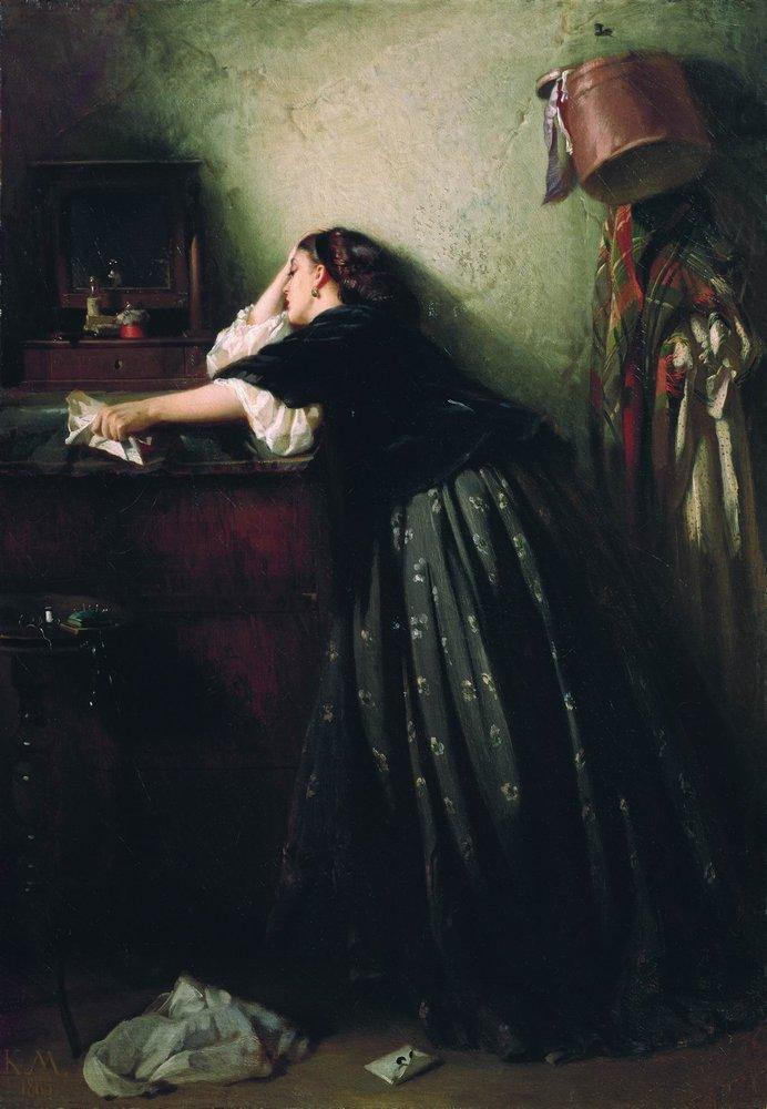 Widow , by Konstantin Makovsky, 1865.
