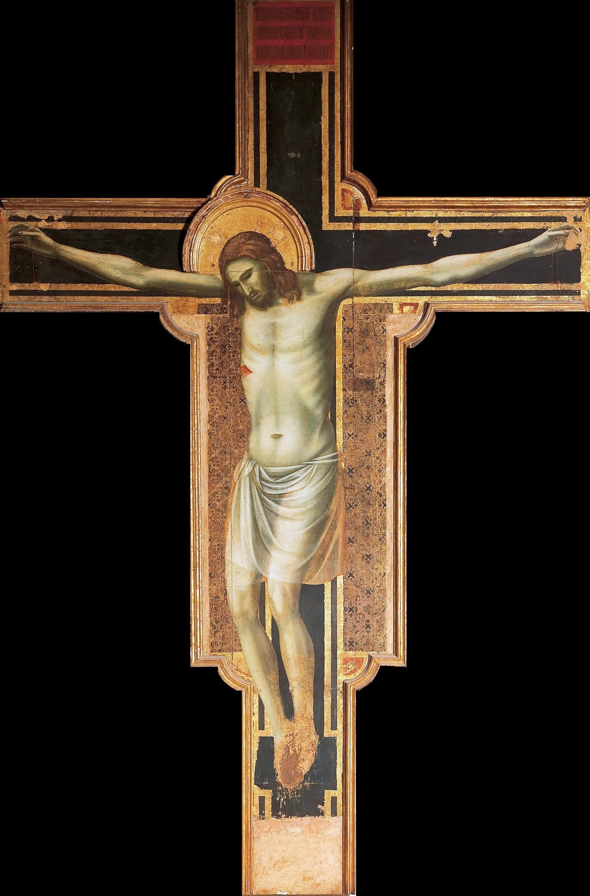 The Crucifixion , Giotto di Bondone, 1315, Rimini, Italy.