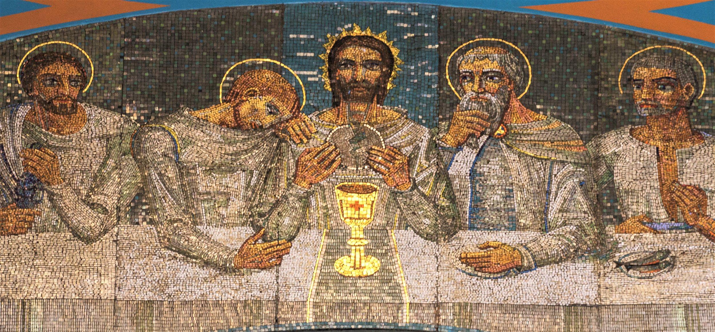 Broken for You,  Mosaic, St Aloysius, Glasgow, Scotland.