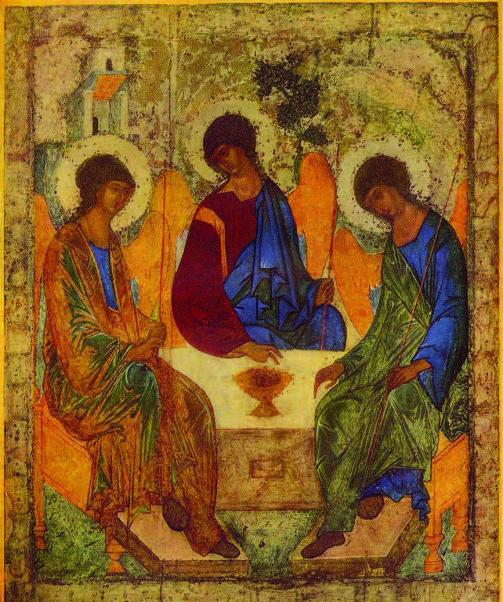 The Trinity  (also called  The Hospitality of Abraham ) is an icon created by Russian painter Andrei Rublev in the 15th century.