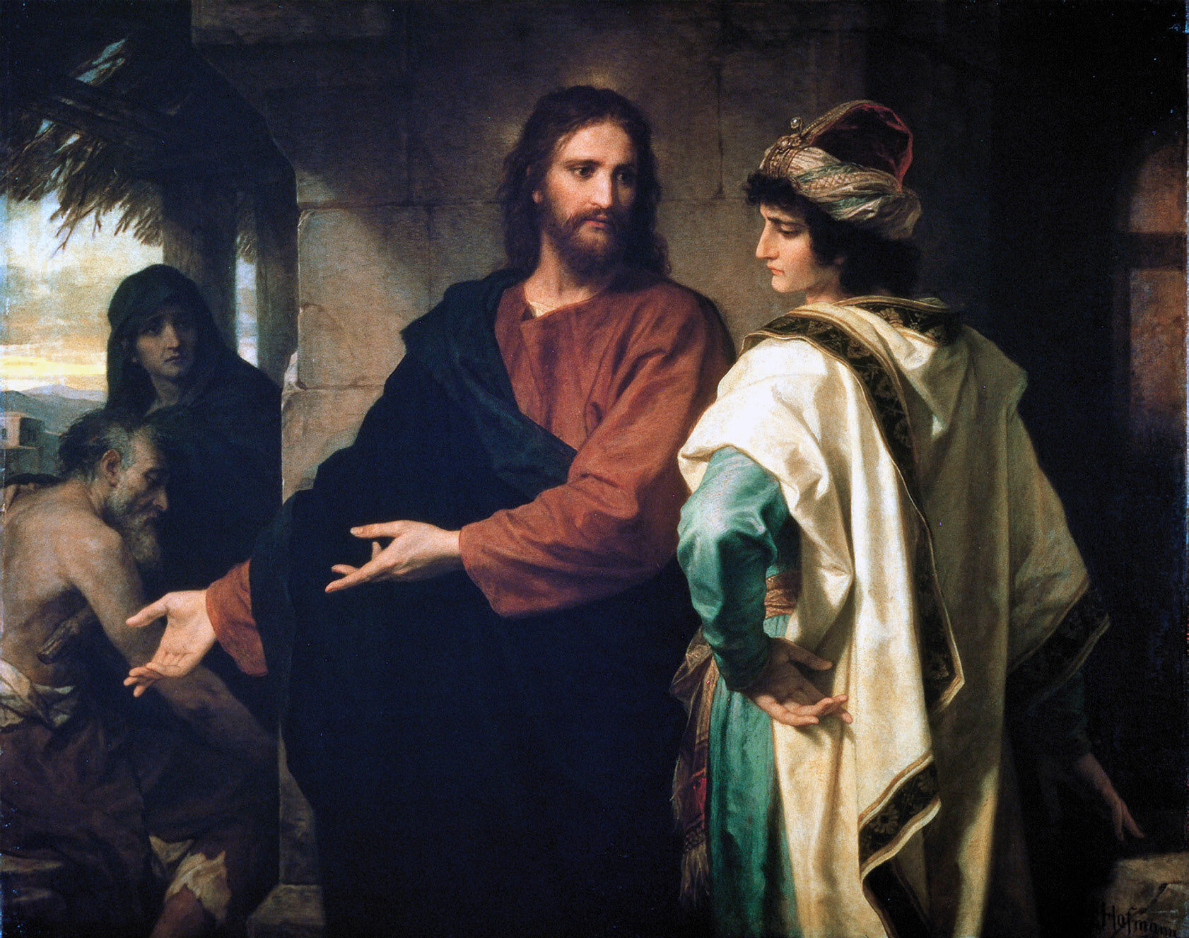 """""""Christ and the Rich Young Ruler,"""" Heinrich Hofmann."""