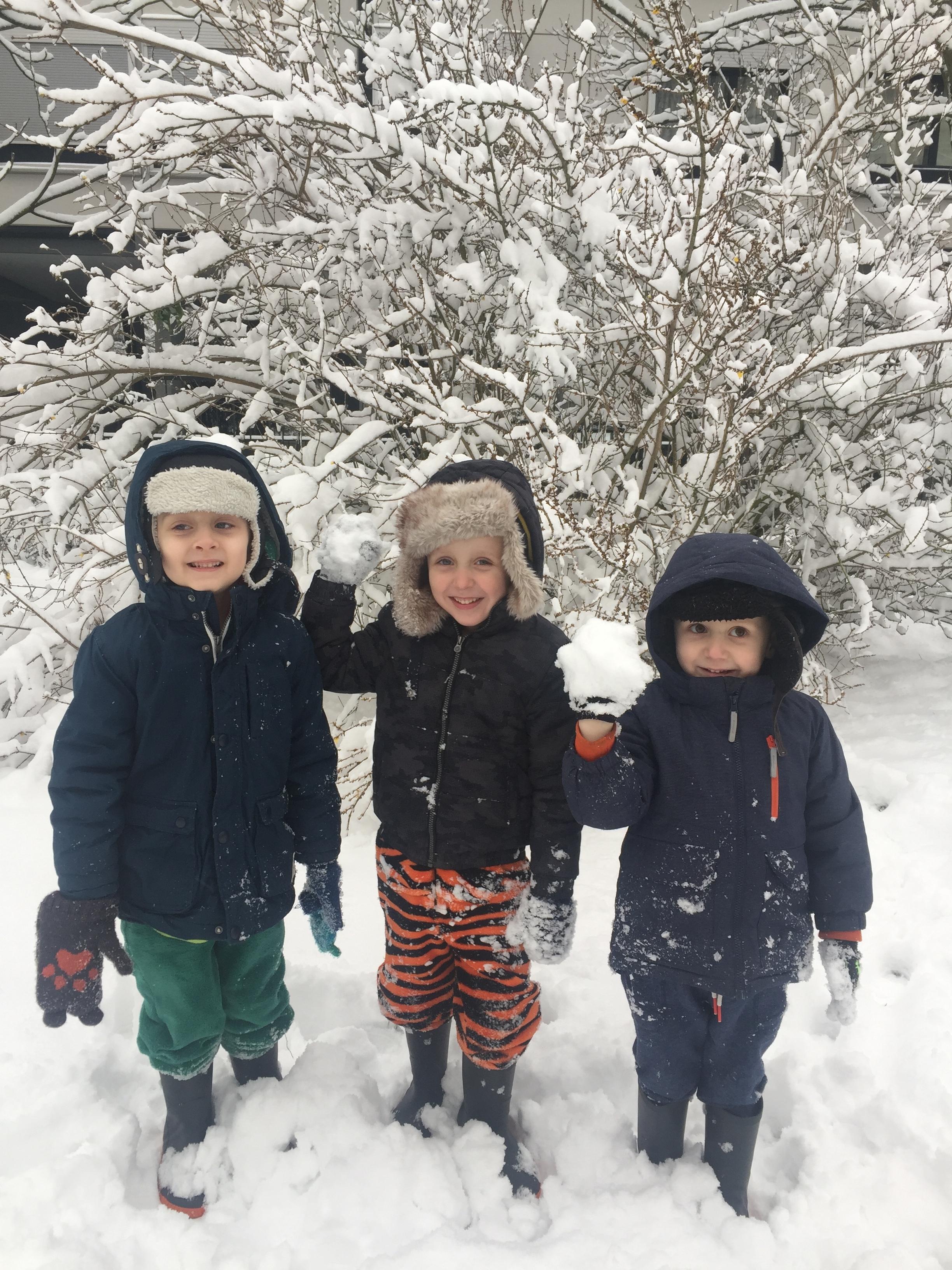 The Boys enjoying the snow!