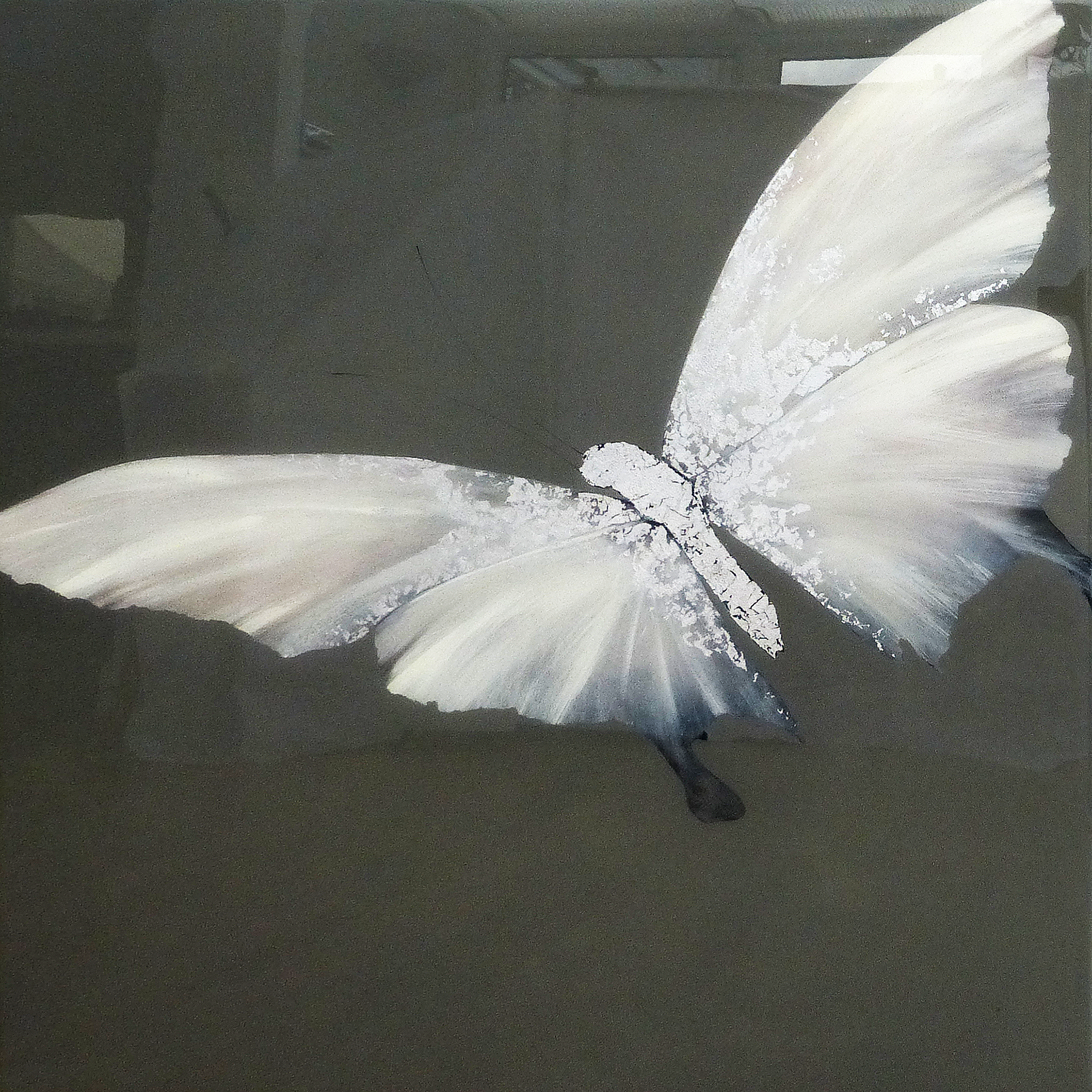 ONE | 90x90cm | oil and metal leaf on board with high gloss epoxy resin |  £1,900.00 | SOLD
