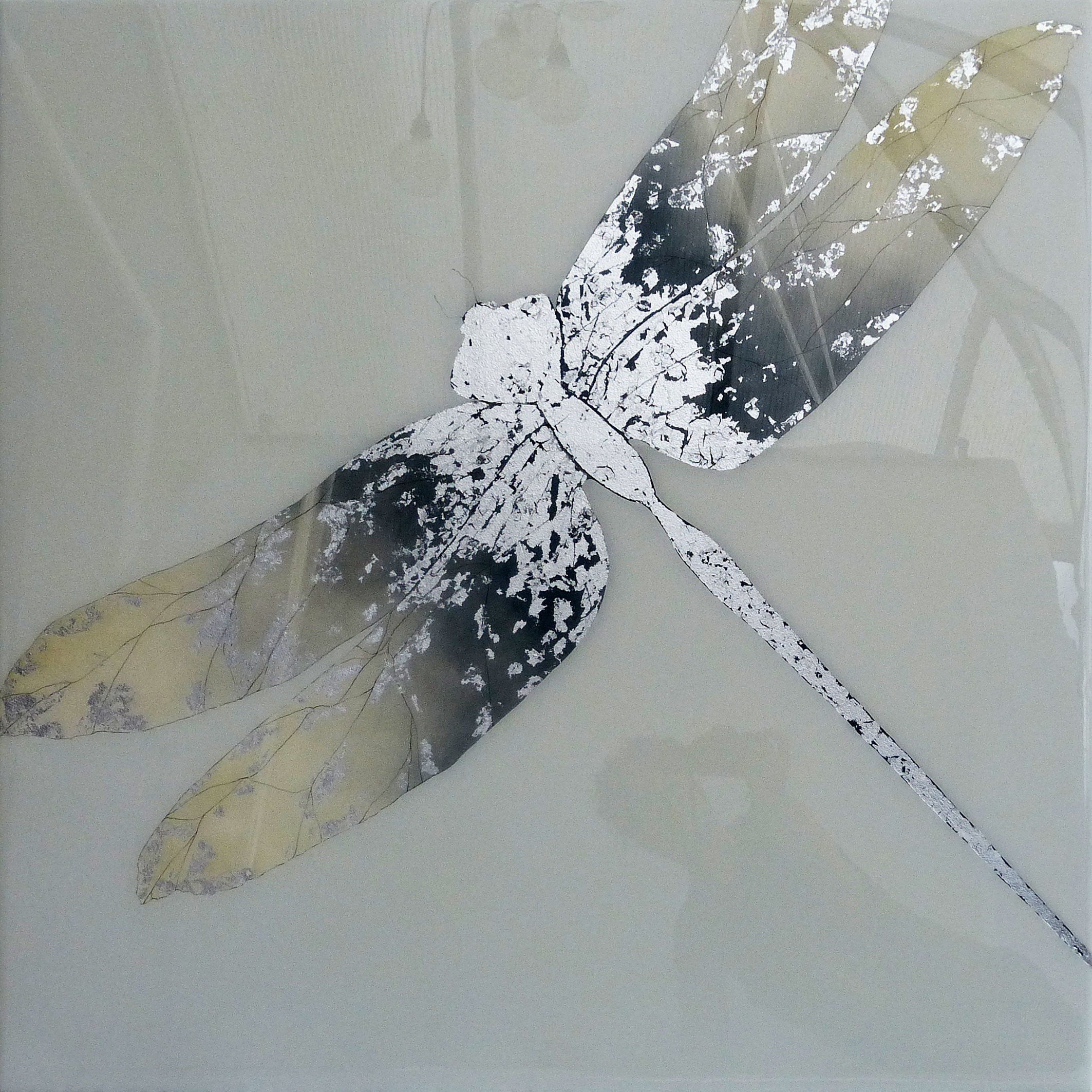 STELLA | 90x90cm | oil and metal leaf on board with high gloss epoxy resin | £2,200.00 | SOLD