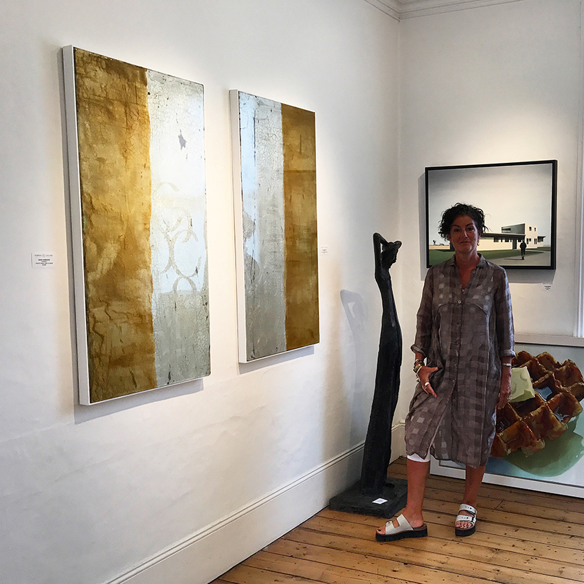 GILDED PANELS shown at The Fairfax Gallery | SOLD