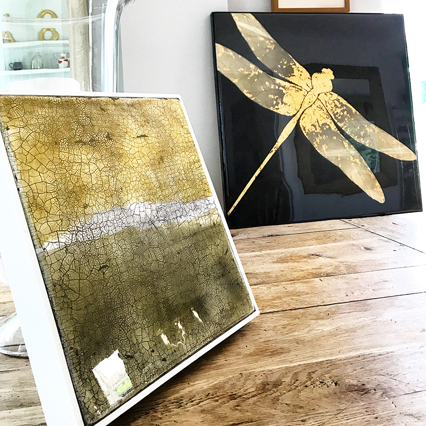 ATER DRAGONFLY and small gilded panel STIGG