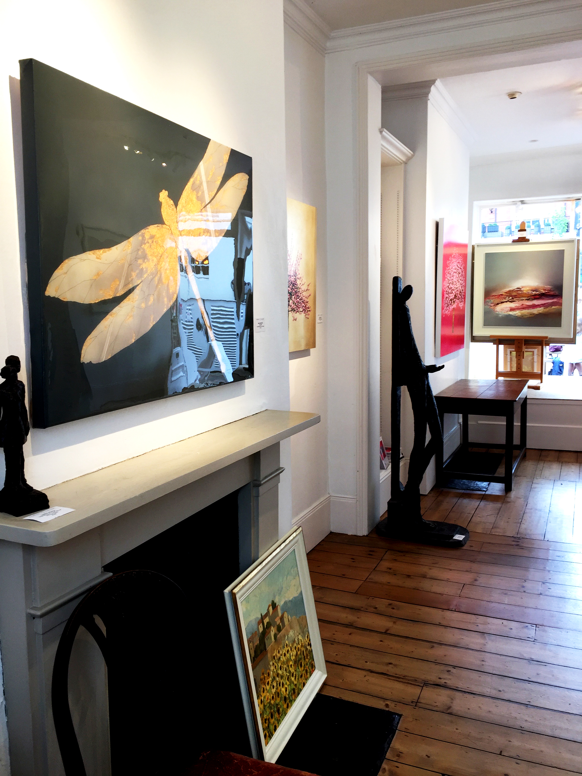 DRAGONFLY painting shown at The Fairfax Gallery