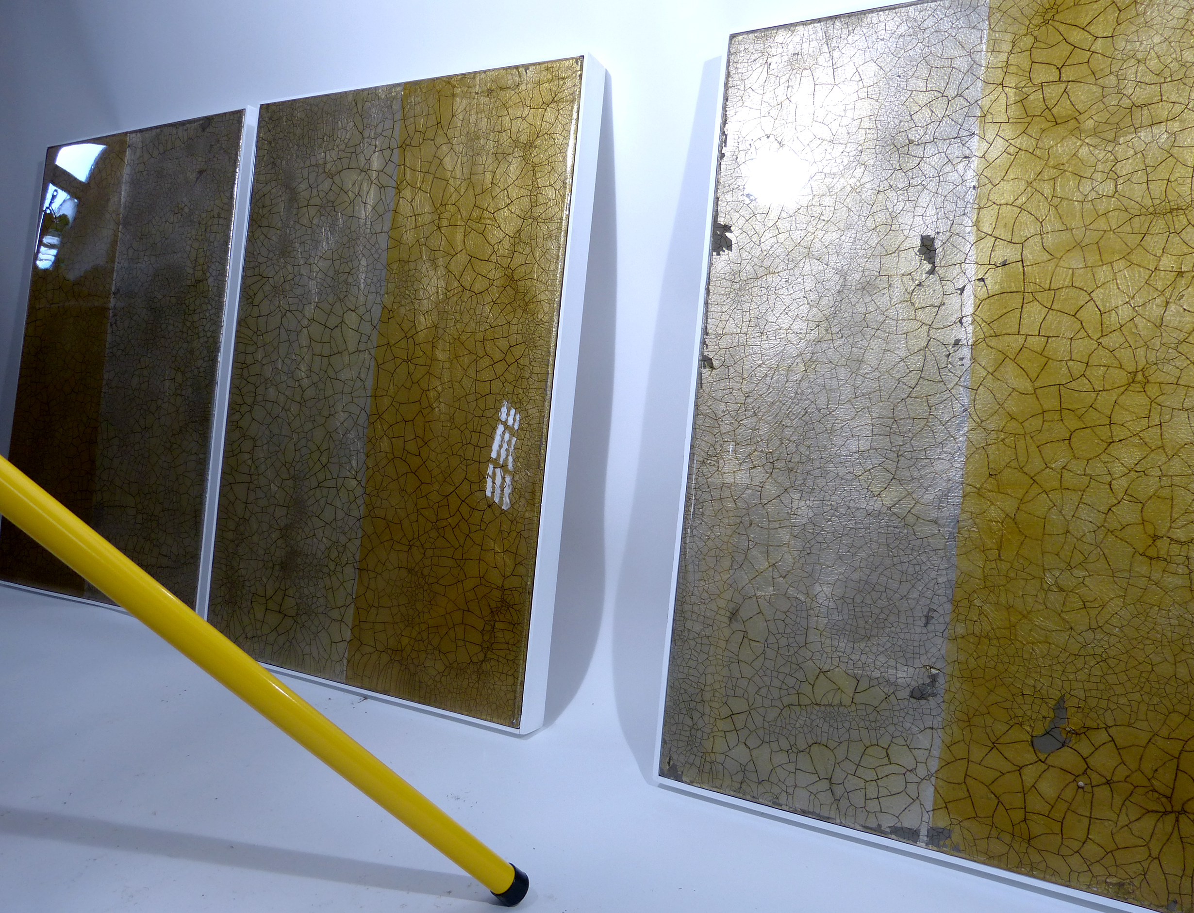 OTAVA 1, 2 and 3 | 78x53cm gilded silver leaf and mixed media on board with high gloss epoxy resin | £1,900.00 | photo shoot |