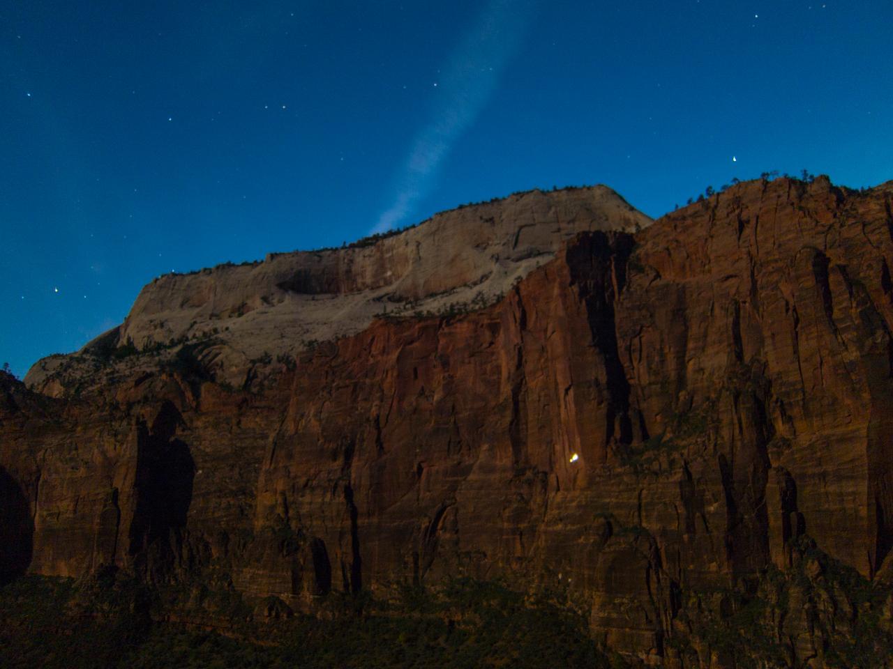 Climbers on Moonlight Buttress