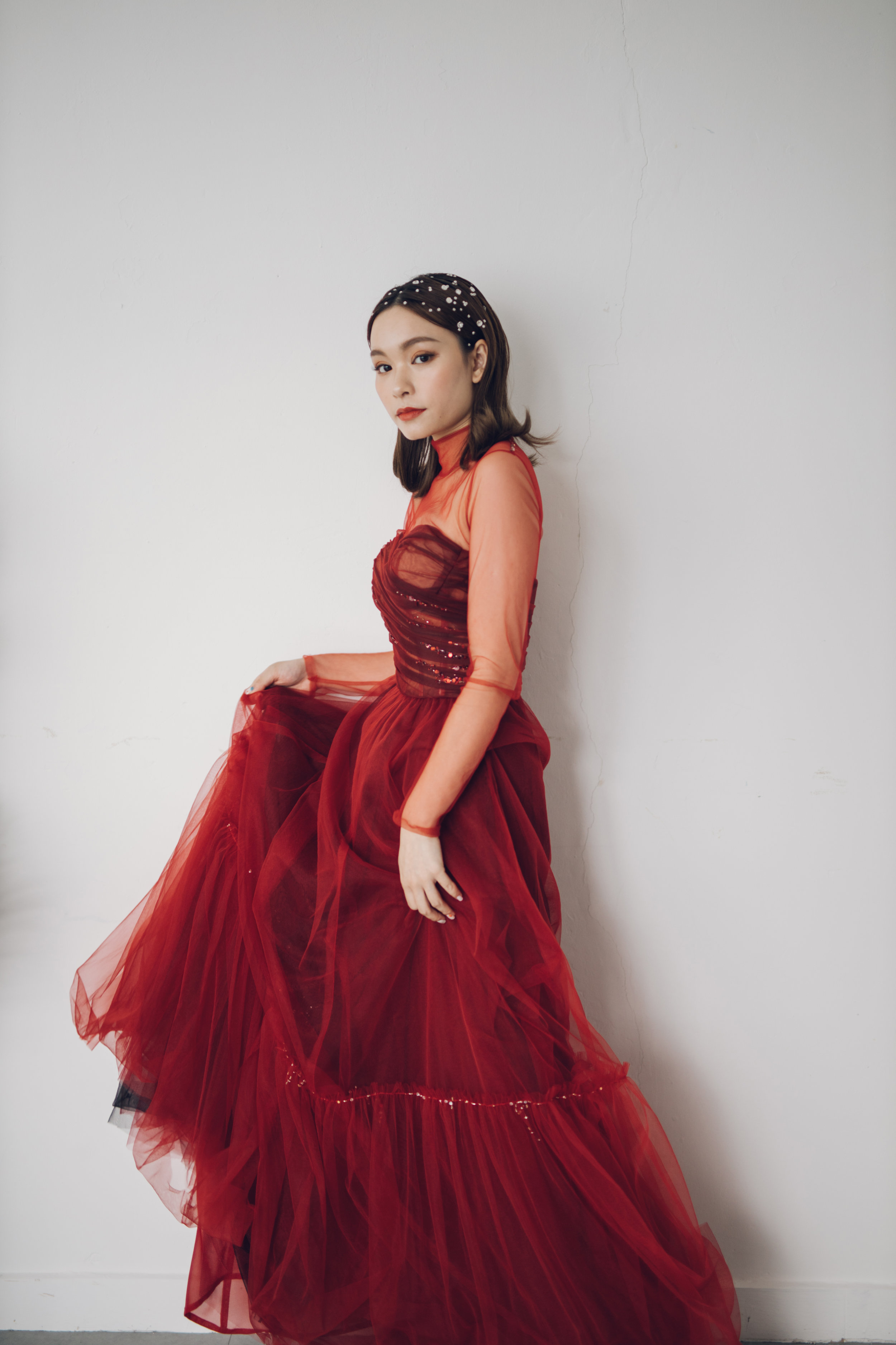 Red Evening Gown -