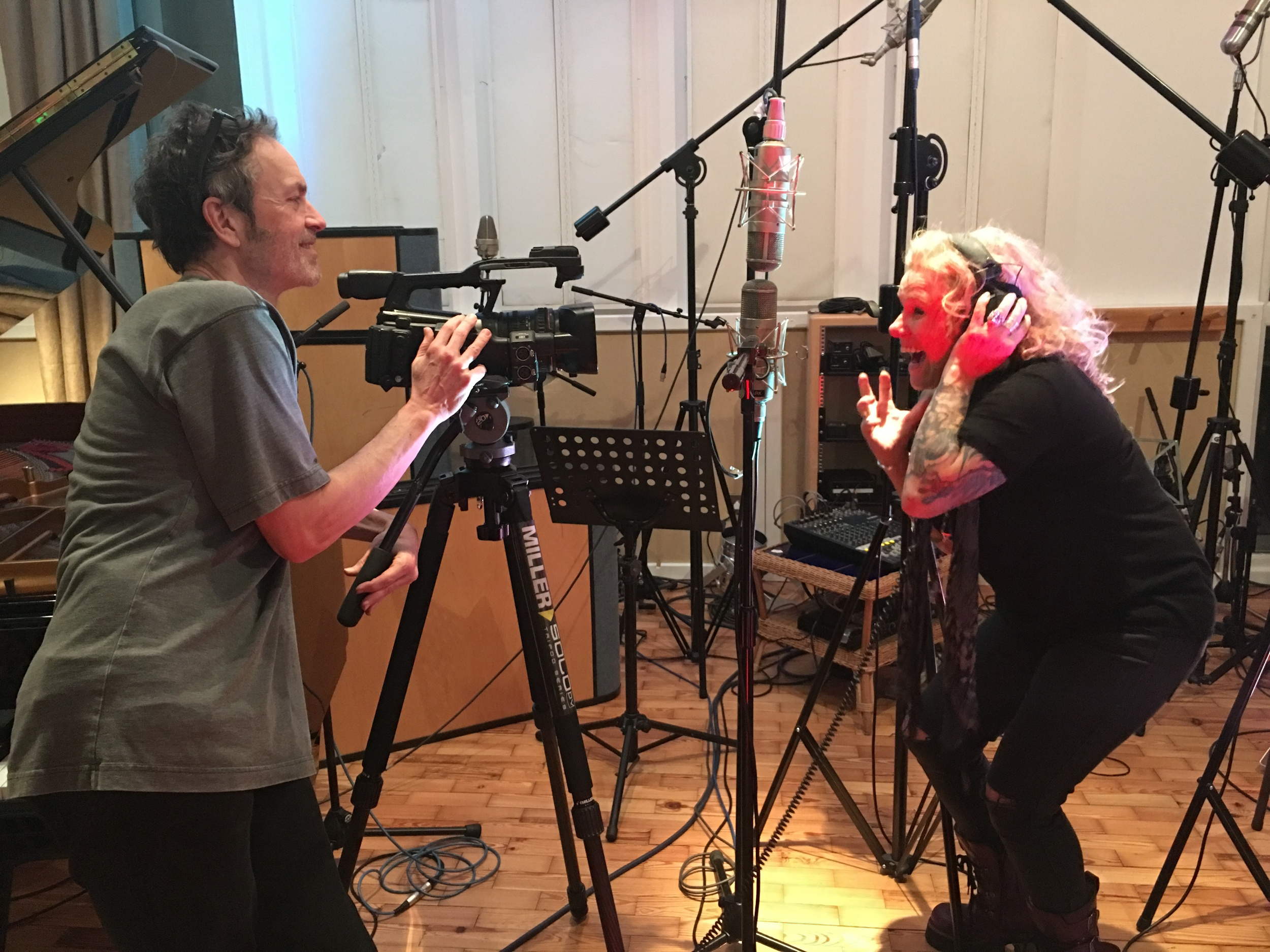 Mark Craig (he's been filming the sessions) and Nikki