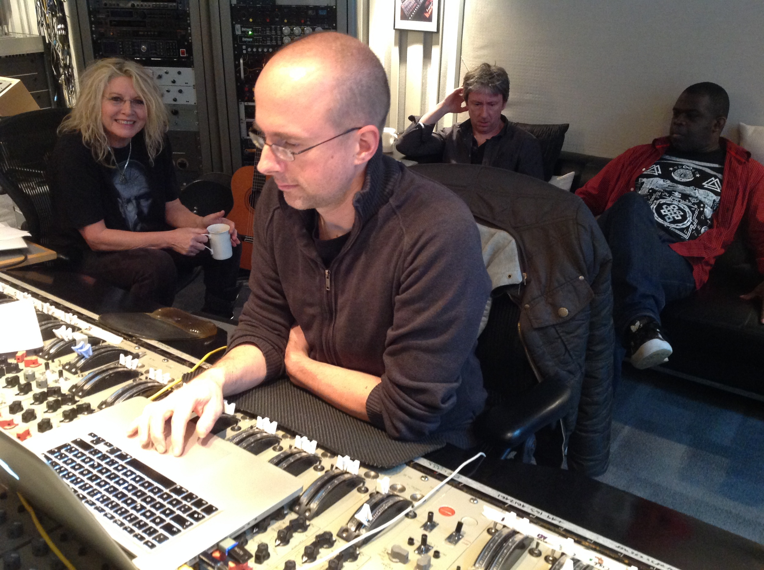 The Been,  Hans Buff (Engineer), Elliot Mortimer (Hammond Player) and Livingstone Brown (Producer)