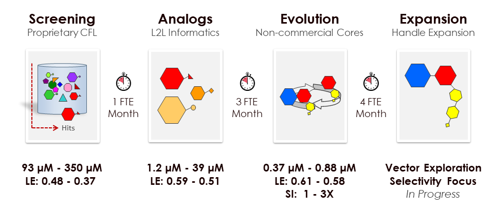 *Top 5 active compounds per stage.